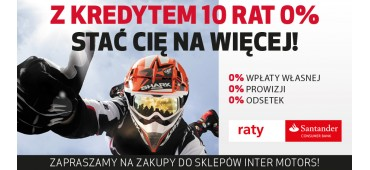 Kredyt 10 rat 0% w Inter Motors